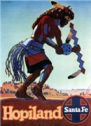 Vintage advertising poster, Santa Fe, Hopiland. Don Perceval